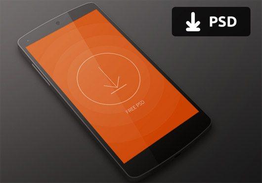 Nexus 5 Mockup PSD by Kreativa Studio