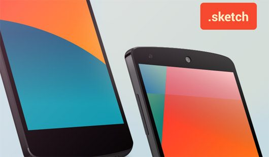 Nexus 5 Sketch template by Fabio Basile