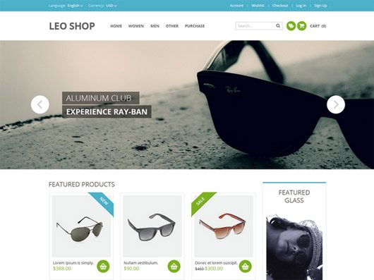 A Premium Quality Free Online Shop Website Template PSD