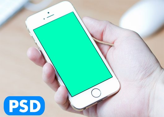 iPhone 5s Mockup gold by Christoph Gromer