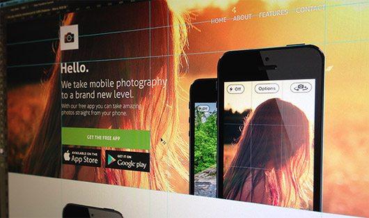 Free App Website PSD Template