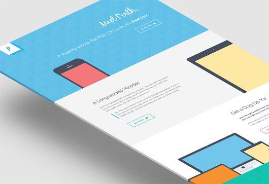 Perth - A Free Flat Web Design. by Peter Finlan