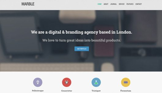 Marble Free Homepage PSD