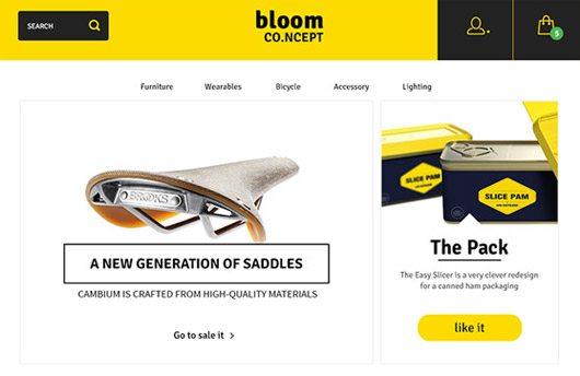 Bloom: E-Commerce Theme Concept