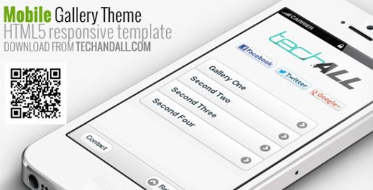 Mobile and Tablet Gallery Responsive Template