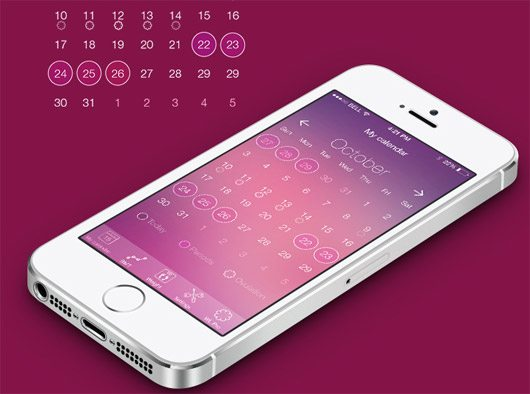 Concept WomenLog ios7 by Ksenia Butyrina