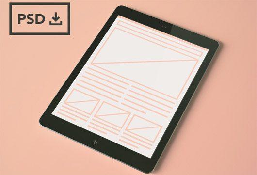 iPad Air Mockup Templates [PSDs] by Tom McKay