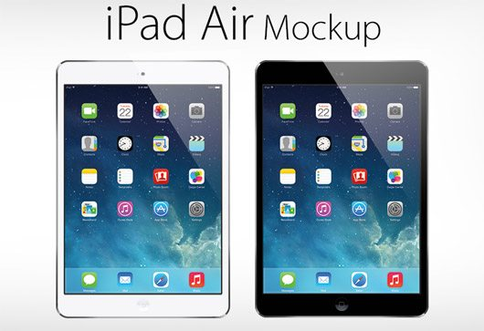 Free Vector iPad Air Mockup by Zee Que