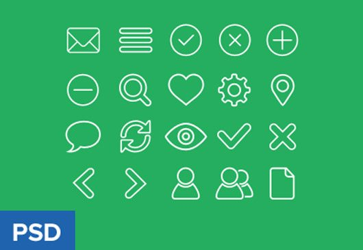 Outline icon set freebie by Virgil Pana