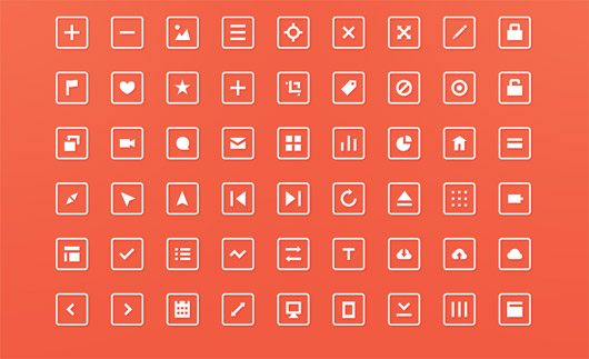 54 Free Squared Icons! by Robin Kylander