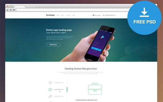 Smart App Landing Page - FREE by PsdBooster