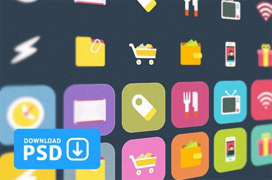Set Colorful Ficons Icons +10 by Alexander Kutuzov