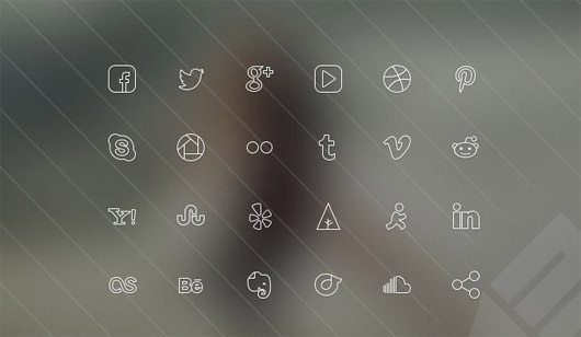 Ultra-thin Social Media Icons
