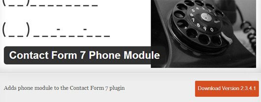Phone Module for contact form