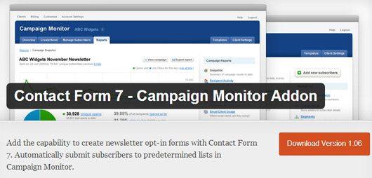 Campaign Monitor Addon
