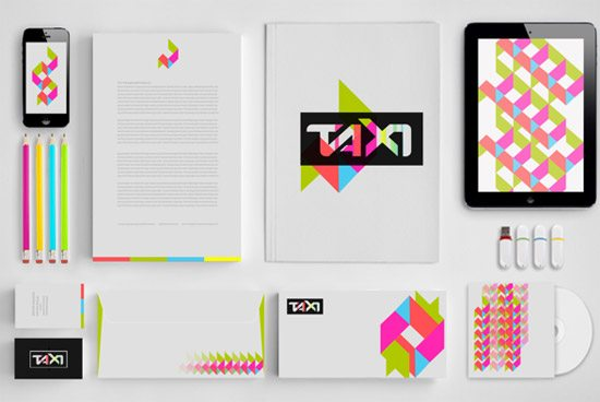 TAXI. Mock Up. Rebranding by  Ekaterina Merzlikina