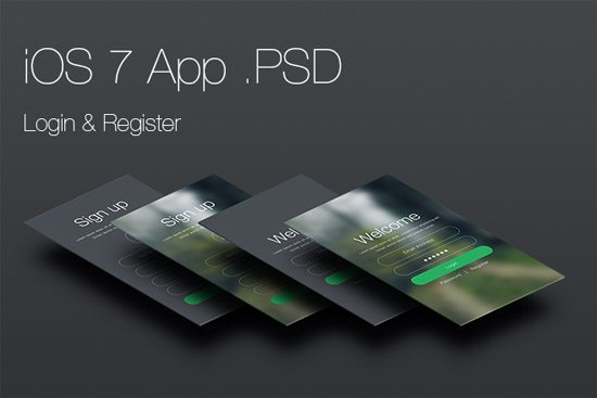 iOS 7 Login and Register App