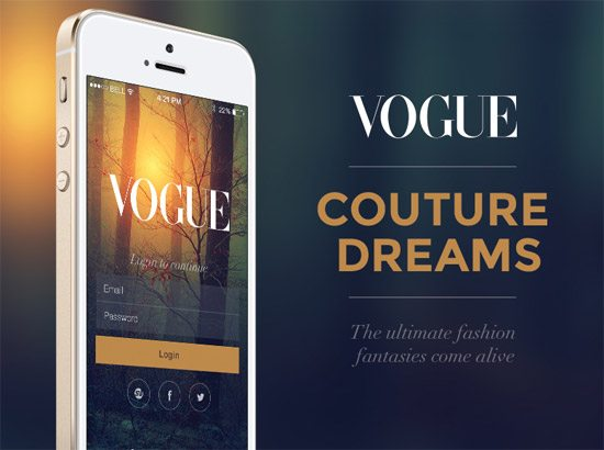 Vogue Concept App [Freebie] by Jana de Klerk