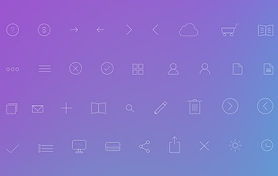 Simple Line Icons PSD by Natalia