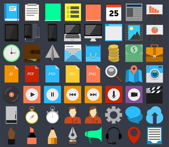 Flat Icon Set by Adam Lindfors