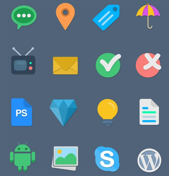 16 Free Flat Icons