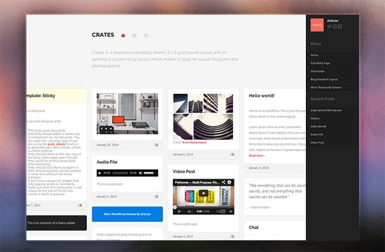 Crates - Free WordPress Theme by Artexor