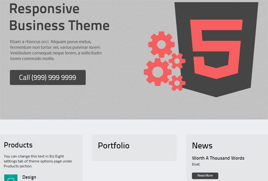 BizArk - responive wordpress theme