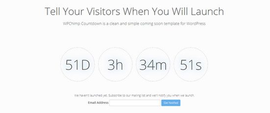 WPChimp Countdown Theme