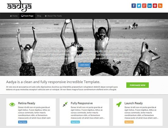Aadya – Free Premium WordPress Theme