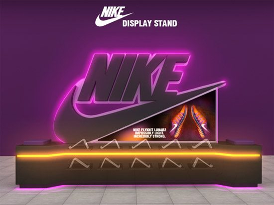 NIKE - DISPLAY STAND by Talal Al Jarrah