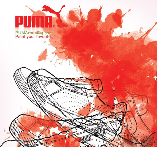 PUMA advertising by Nooshafarin-Nooshin Mir-Abdollahi
