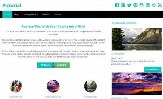 Pictorial - is anothe clean bloggin wordpress theme