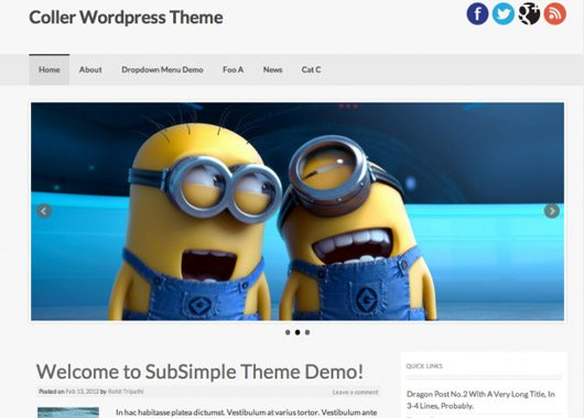 Coller WordPress Theme