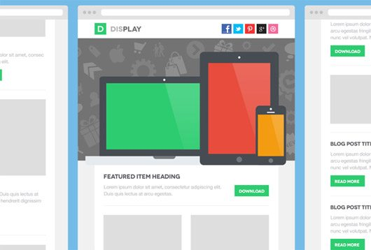 Display Email PSD Template