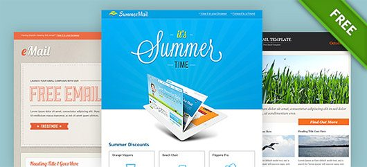 Fantastic, full of joy email psd templates