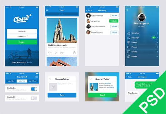 UI Set 2 PSD by Muharrem Şenyıl