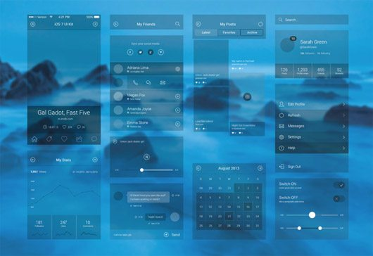iOS 7 UI COMPENENT by Md Joy
