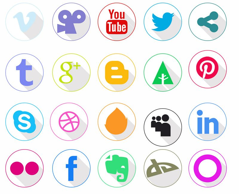 Freebie: Set of Colorful Flat Icons with Shadow