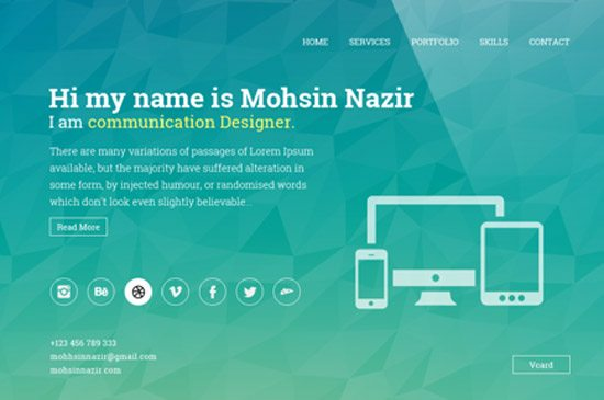 Horizontal E-Resume by Mohsin Nazir Mughal