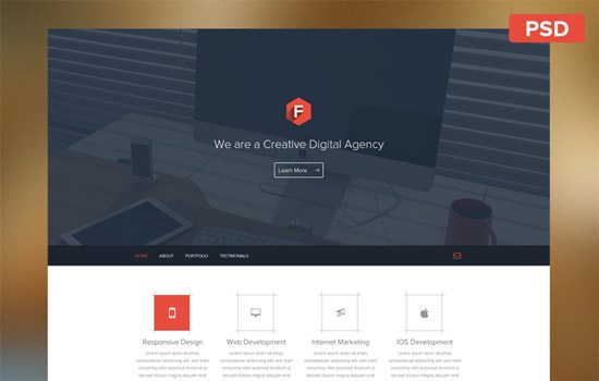 Web Layout Free PSD by Dimple Bhavsar