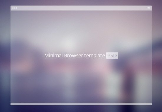 PSD Minimal Browser Template by Alexey Izotov
