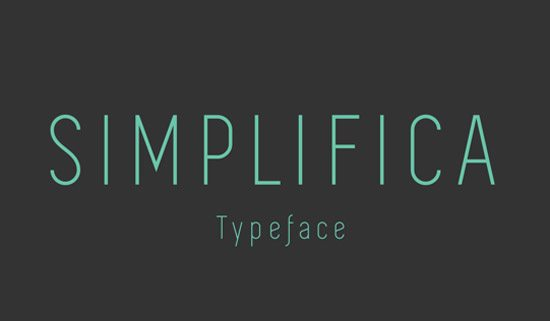 SIMPLIFICA Typeface by K A I W A