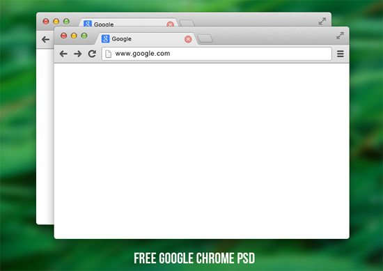 Google chrome PSD by Denis Antropov