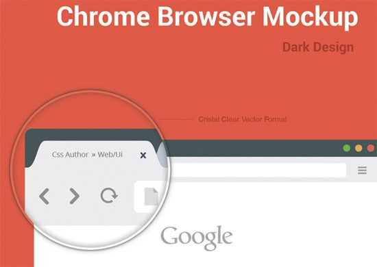 Chrome Browser Mockup by Arun