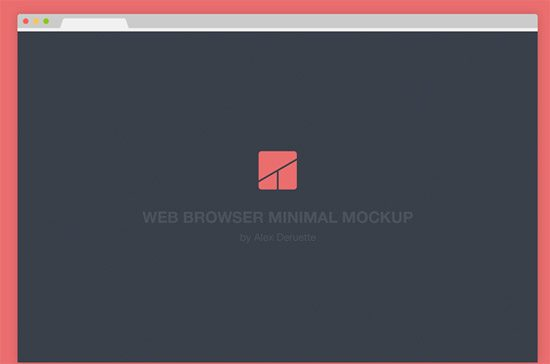 Web browser - Flat minimal mockup by Alex Deruette