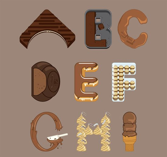 Chocolate Font by nadzrin hakim