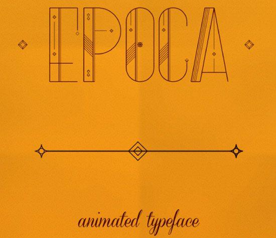 Epoca - Animated Typeface