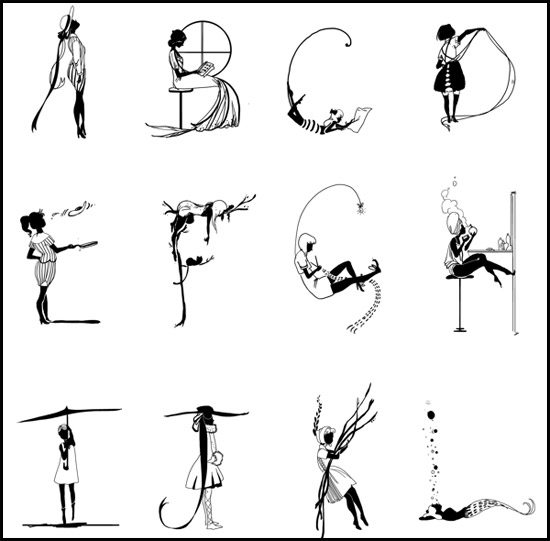 Girly Alphabet by Evyn Fong