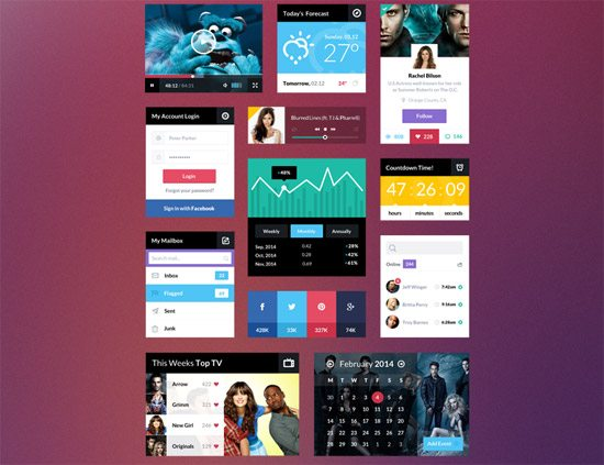 UI Kit PSD by Chris Braniff