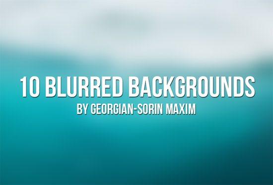 10 Blurred Backgrounds by Georgian-Sorin Maxim